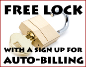 Free lock when you sign up for auto-billing